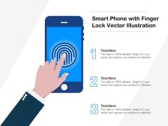 Smart Phone With Finger Lock Vector Illustration Ppt PowerPoint Presentation Professional Brochure PDF