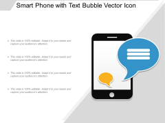 Smart Phone With Text Bubble Vector Icon Ppt PowerPoint Presentation Model Mockup PDF