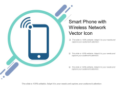 Smart Phone With Wireless Network Vector Icon Ppt PowerPoint Presentation Professional Picture PDF