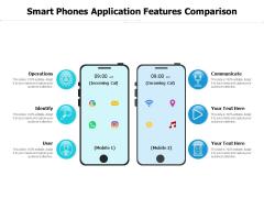 Smart Phones Application Features Comparison Ppt PowerPoint Presentation Styles Graphics Template PDF