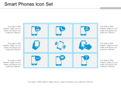 Smart Phones Icon Set Ppt PowerPoint Presentation Ideas Graphics PDF