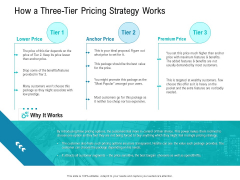 Smart Software Pricing Strategies How A Three Tier Pricing Strategy Works Ppt Infographic Template Example Introduction PDF