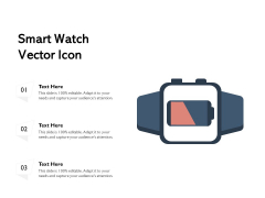 Smart Watch Vector Icon Ppt PowerPoint Presentation File Brochure PDF