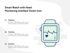 Smart Watch With Heart Monitoring Interface Vector Icon Ppt PowerPoint Presentation File Microsoft PDF