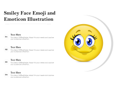 Smiley Face Emoji And Emoticon Illustration Ppt PowerPoint Presentation Gallery Format Ideas PDF