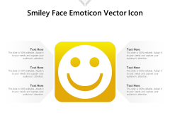 Smiley Face Emoticon Vector Icon Ppt PowerPoint Presentation File Tips PDF