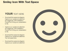 Smiley Icon With Text Space PowerPoint Templates