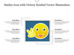 Smiley Icon With Victory Symbol Vector Illustration Ppt PowerPoint Presentation File Elements PDF