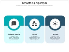 Smoothing Algorithm Ppt PowerPoint Presentation Layouts Portrait Cpb Pdf