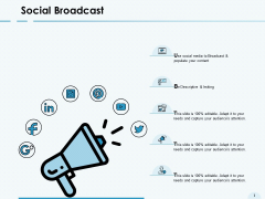 Social Broadcast About Us Ppt PowerPoint Presentation Ideas Sample