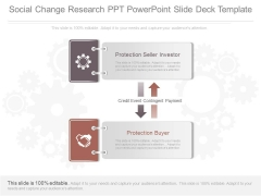 Social Change Research Ppt Powerpoint Slide Deck Template