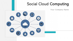 Social Cloud Computing Depicting Communication Ppt PowerPoint Presentation Complete Deck With Slides