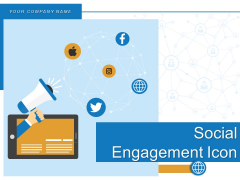 Social Engagement Icon Cloud Networking Electronic Devices Data Migration Ppt PowerPoint Presentation Complete Deck