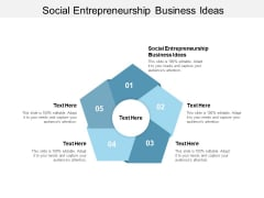 Social Entrepreneurship Business Ideas Ppt PowerPoint Presentation Inspiration Icons Cpb