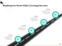 Social Gathering Movie Making Roadmap For Event Video Coverage Services Ppt Infographic Template Deck PDF