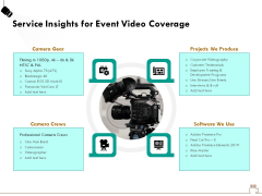 Social Gathering Movie Making Service Insights For Event Video Coverage Ppt Outline Topics PDF