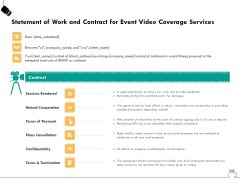 Social Gathering Movie Making Statement Of Work And Contract For Event Video Coverage Services Diagrams PDF