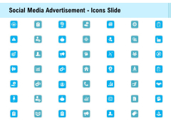 Social Media Advertisement Icons Slide Ppt Show Outfit PDF