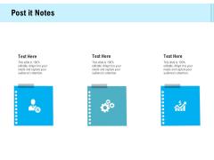 Social Media Advertisement Post It Notes Ppt File Vector PDF