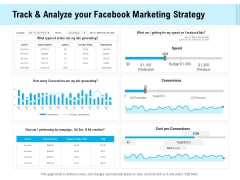 Social Media Advertisement Track And Analyze Your Facebook Marketing Strategy Ppt Model Format Ideas PDF