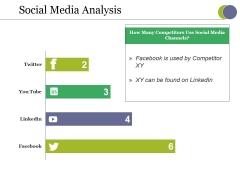 Social Media Analysis Ppt PowerPoint Presentation Slides Templates