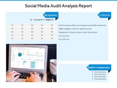 Social Media Audit Analysis Report Ppt PowerPoint Presentation File Rules PDF