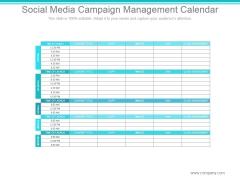 Social Media Campaign Management Calendar Slide2 Ppt PowerPoint Presentation Shapes