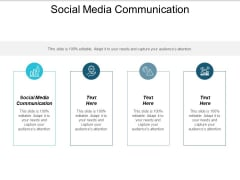 Social Media Communication Ppt PowerPoint Presentation Pictures Format Cpb