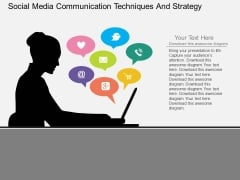 Social Media Communication Techniques And Strategy Powerpoint Template