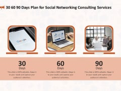 Social Media Consultancy 30 60 90 Days Plan For Social Networking Consulting Services Summary PDF