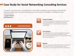 Social Media Consultancy Case Study For Social Networking Consulting Services Portrait PDF