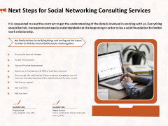 Social Media Consultancy Next Steps For Social Networking Consulting Services Sample PDF