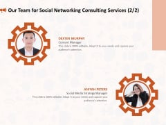 Social Media Consultancy Our Team For Social Networking Consulting Services Strategy Pictures PDF