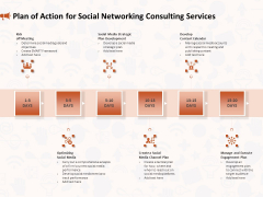Social Media Consultancy Plan Of Action For Social Networking Consulting Services Information PDF