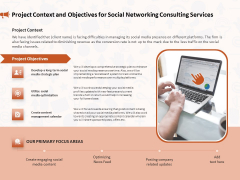 Social Media Consultancy Project Context And Objectives For Social Networking Consulting Services Formats PDF