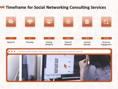 Social Media Consultancy Timeframe For Social Networking Consulting Services Download PDF