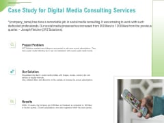 Social Media Consulting Case Study For Digital Media Consulting Services Ppt Pictures Graphics Template PDF
