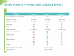 Social Media Consulting Multiple Packages For Digital Media Consulting Services Introduction PDF