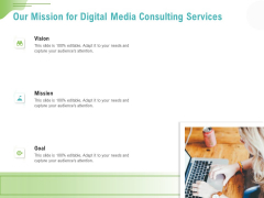 Social Media Consulting Our Mission For Digital Media Consulting Services Rules PDF