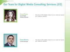 Social Media Consulting Our Team For Digital Media Consulting Services Ppt Portfolio Outfit PDF