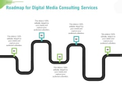 Social Media Consulting Roadmap For Digital Media Consulting Services Professional PDF