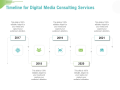Social Media Consulting Timeline For Digital Media Consulting Services Ppt Outline Skills PDF