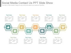 Social Media Contact Us Ppt Slide Show