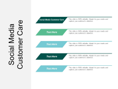 Social Media Customer Care Ppt PowerPoint Presentation Ideas Graphic Tips Cpb