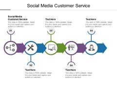 Social Media Customer Service Ppt PowerPoint Presentation Icon Brochure Cpb
