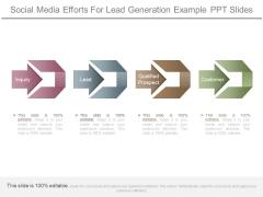 Social Media Efforts For Lead Generation Example Ppt Slides