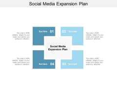 Social Media Expansion Plan Ppt PowerPoint Presentation Summary Samples Cpb