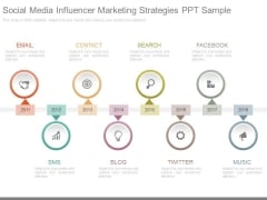 Social Media Influencer Marketing Strategies Ppt Sample