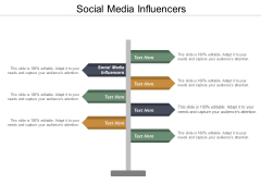 Social Media Influencers Ppt PowerPoint Presentation Show Model Cpb