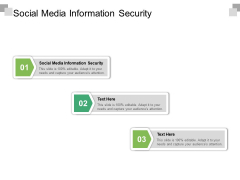 Social Media Information Security Ppt PowerPoint Presentation Infographics Master Slide Cpb Pdf